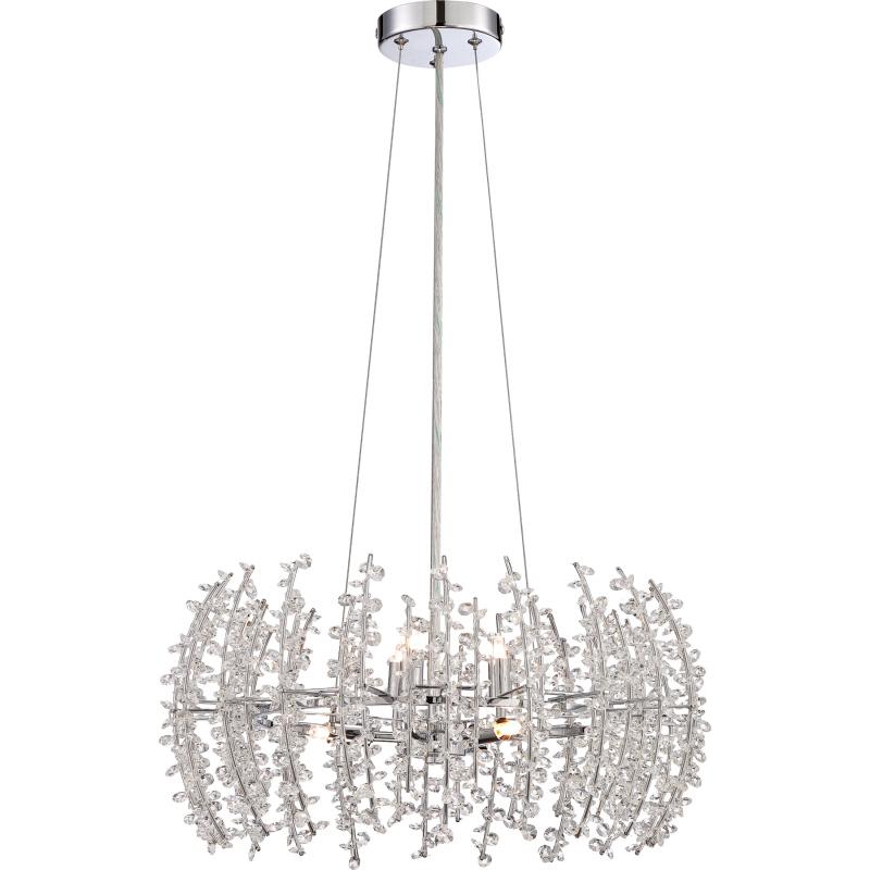 Quoizel vla2820c valla polished chrome finish 20 wide xenon mini chandelier light loading zoom