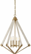 Quoizel VP5204WS View Point Modern Weathered Brass Lighting Chandelier