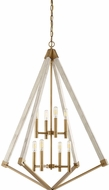 Quoizel VP5208WS View Point Contemporary Weathered Brass Chandelier Lamp