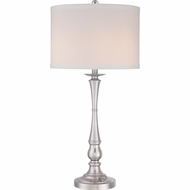 Quoizel VVAM6130BN Vivid Collection Ambrose Brushed Nickel Finish 30.5 Tall Table Lighting