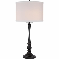 Quoizel VVAM6130PN Vivid Collection Ambrose Palladian Bronze Finish 15  Wide Lighting Table Lamp