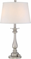 Quoizel VVKY6328BN Vivid Collection Kingsley Brushed Nickel Table Lamp