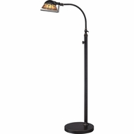 Quoizel VVWH9348IB Vivid Collection Whitney Tiffany Imperial Bronze Finish 49 Tall Floor Lighting