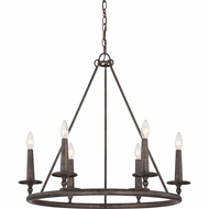 Quoizel VYR5006ML Voyager Malaga Finish 26  Tall Lighting Chandelier