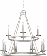 Quoizel VYR5012BN Voyager Modern Brushed Nickel Ceiling Chandelier