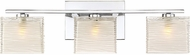 Quoizel WCP8603CLED Westcap Contemporary Polished Chrome LED 3-Light Bath Light Fixture