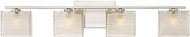 Quoizel WCP8604BNLED Westcap Modern Brushed Nickel LED 4-Light Bath Lighting Fixture