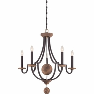 Quoizel WDM5005WT Wyndmoor Western Bronze Finish 28  Wide Ceiling Chandelier