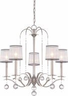Quoizel WHI5005IS Whitney Imperial Silver Chandelier Light