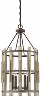 Quoizel WHL5204RK Wood Hollow Contemporary Rustic Black Entryway Light Fixture