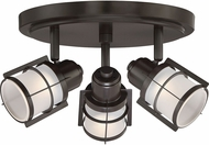 Quoizel WNS1610WT Winside Modern Western Bronze LED Flush Mount Lighting Fixture