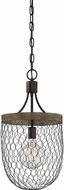 Quoizel WSE1512CG Willowstone Modern Classic Grey Mini Pendant Lighting Fixture