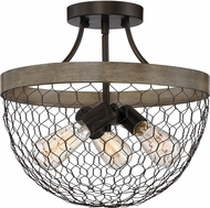 Quoizel WSE1715CG Willowstone Contemporary Classic Grey Home Ceiling Lighting