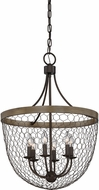 Quoizel WSE5206CG Willowstone Modern Classic Grey Hanging Pendant Lighting