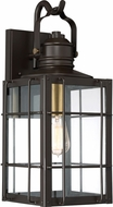 Quoizel WTO8409WT West Oak Western Bronze Outdoor 9  Lighting Sconce