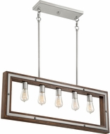 Quoizel WTY536BN Westerly Contemporary Brushed Nickel Kitchen Island Lighting