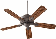 Quorum 137525-44 Hudson Toasted Sienna w/ Rosewood Blades Outdoor 52  Home Ceiling Fan