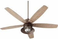 Quorum 14605-86 Portico Oiled Bronze w/ Weathered Oak Blades Fluorescent Outdoor 60 Home Ceiling Fan