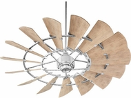 Quorum 196015-9 Windmill Modern Galvanized w/ Weathered Oak Blades Outdoor 60  Home Ceiling Fan