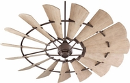 Quorum 197215-86 Windmill Contemporary Oiled Bronze w/ Weathered Oak Blades Exterior 72 Ceiling Fan
