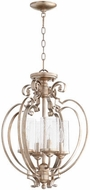 Quorum 2180-18-60 Chalon Contemporary Aged Silver Leaf Foyer Lighting