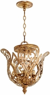 Quorum 2192-4-60 Le Monde Modern Aged Silver Leaf Drop Lighting