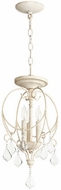 Quorum 2705-10-70 Ariel Traditional Persian White Foyer Lighting Fixture