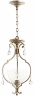 Quorum 2814-12-60 Ansley Traditional Aged Silver Leaf Entryway Light Fixture