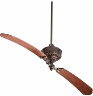 Quorum 28682-86 Turner Oiled Bronze w/ Distressed Vintage Walnut Blades 68  Ceiling Fan