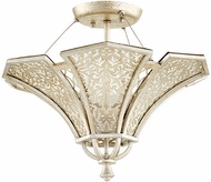 Quorum 2875-17-60 Bastille Contemporary Aged Silver Leaf Ceiling Light Fixture