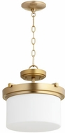Quorum 2917-13-80 Lancaster Aged Brass Pendant Light