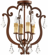 Quorum 319-4-39 Montgomery Vintage Copper Flush Lighting