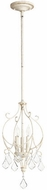 Quorum 3205-70 Ariel Traditional Persian White Foyer Light Fixture