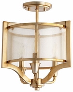 Quorum 332-3-80 Highline Modern Aged Brass Home Ceiling Lighting