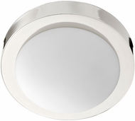 Quorum 3505-9-62 Polished Nickel 9  Flush Mount Light Fixture