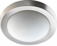 Quorum 3505-9-65 Satin Nickel 9  Flush Mount Lighting Fixture