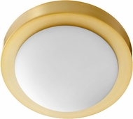 Quorum 3505-9-80 Aged Brass 9  Flush Ceiling Light Fixture