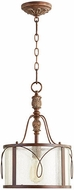 Quorum 3506-39 Salento Vintage Copper Drum Drop Ceiling Light Fixture