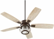 Quorum 3525-86 Galveston Oiled Bronze w/ Weathered Oak Blades Fluorescent 52  Home Ceiling Fan