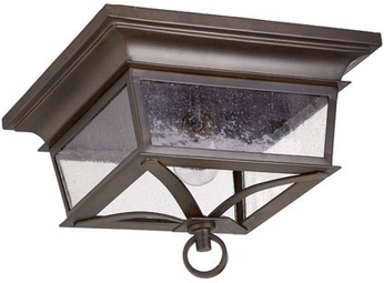 Quorum 3730-14-86 Pavilion Oiled Bronze Exterior Flush Mount ...