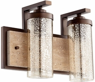 Quorum 503-2-86 Julian Modern Oiled Bronze 2-Light Lighting For Bathroom