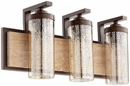 Quorum 503-3-86 Julian Modern Oiled Bronze 3-Light Bathroom Light