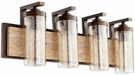 Quorum 503-4-86 Julian Modern Oiled Bronze 4-Light Vanity Lighting