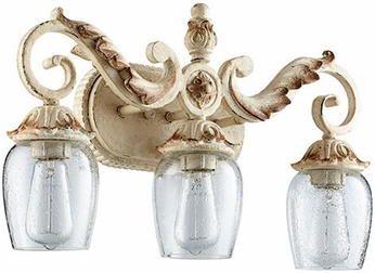 Quorum 5037-3-70 Florence Traditional Persian White 3-Light Vanity Light