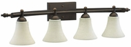 Quorum 5077-4-86 Aspen Oiled Bronze 4-Light Bath Lighting Fixture