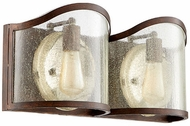 Quorum 5106-2-39 Salento Vintage Copper 2-Light Bath Lighting Fixture