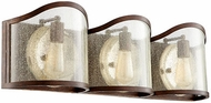 Quorum 5106-3-39 Salento Vintage Copper 3-Light Bathroom Vanity Light