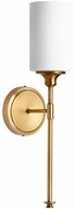 Quorum 5309-1-80 Celeste Contemporary Aged Brass Wall Mounted Lamp