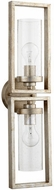 Quorum 553-2-60 Julian Modern Aged Silver Leaf w/ Clear/Seeded Lamp Sconce
