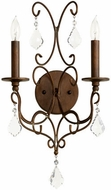Quorum 5605-2-39 Ariel Traditional Vintage Copper Wall Light Sconce